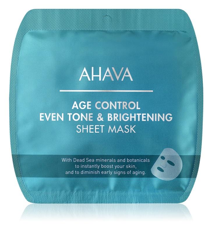 Ahava Time To Smooth maska rozświetlająca w płacie przeciw zmarszczkom