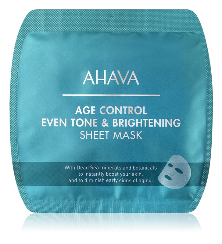 Ahava Time To Smooth sheet maska za blistav ten protiv bora