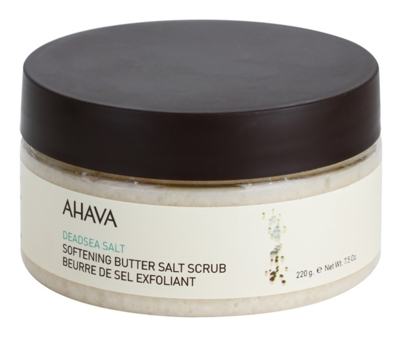 Ahava Dead Sea Salt zjemňujúce peelingové maslo so soľou z Mŕtveho mora