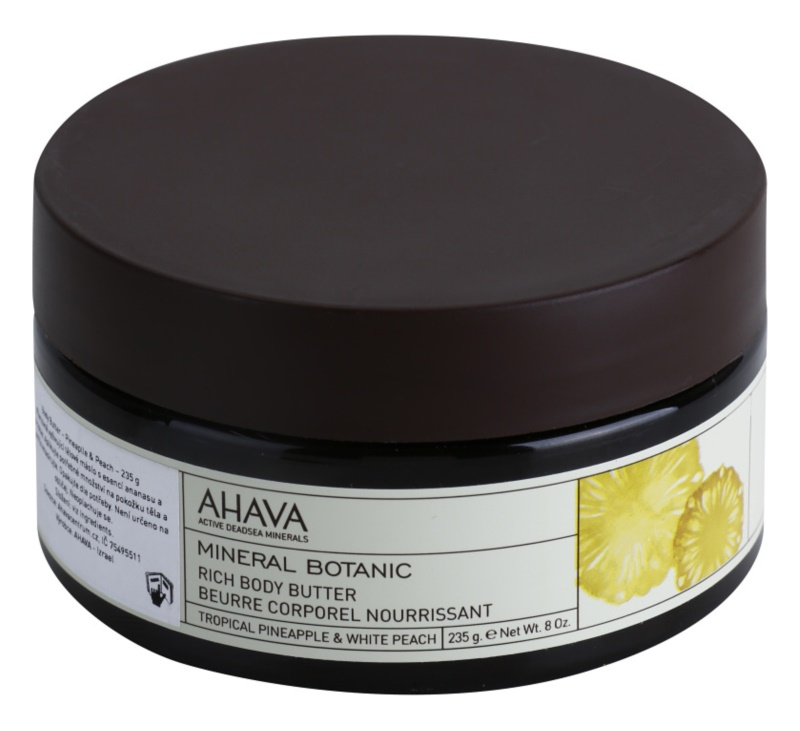 Ahava Mineral Botanic Tropical Pineapple & White Peach nährende Body-Butter