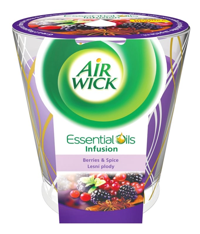 Air Wick Essential Oil Deco - Berries & Spice illatos gyertya  105 g