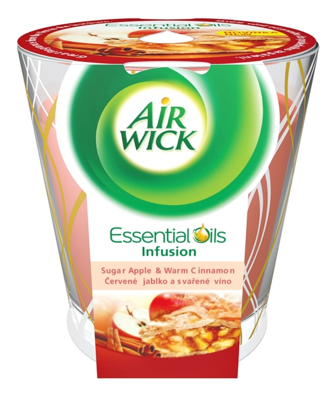 Air Wick Essential Oil Deco Sugar Apple & Warm Cinnamon vela perfumada  105 g