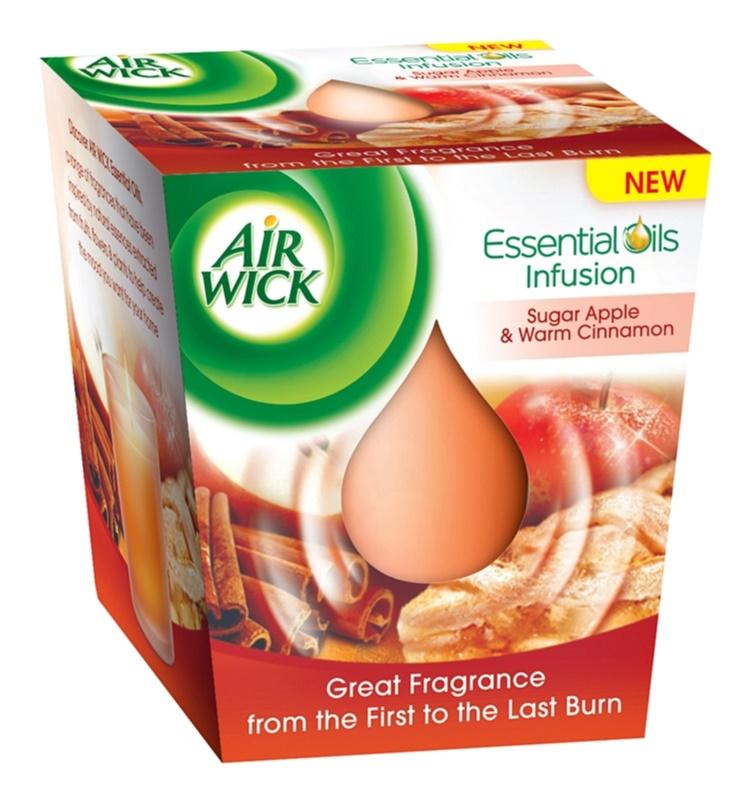 Air Wick Essential Oil Sugar Apple & Warm Cinnamon Scented Candle 105 g