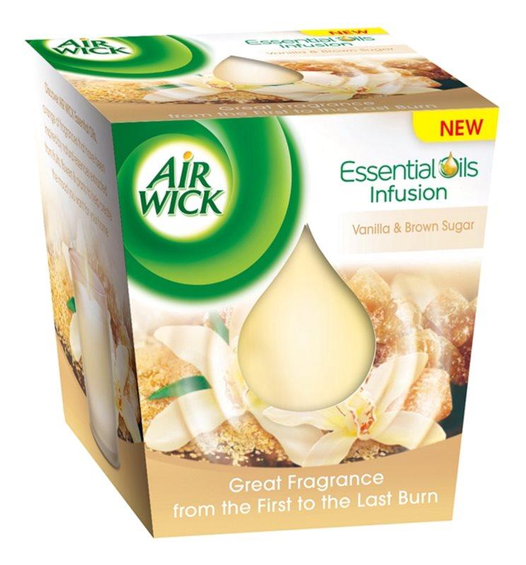 Air Wick Essential Oil Vanilla & Brown Sugar świeczka zapachowa  105 g