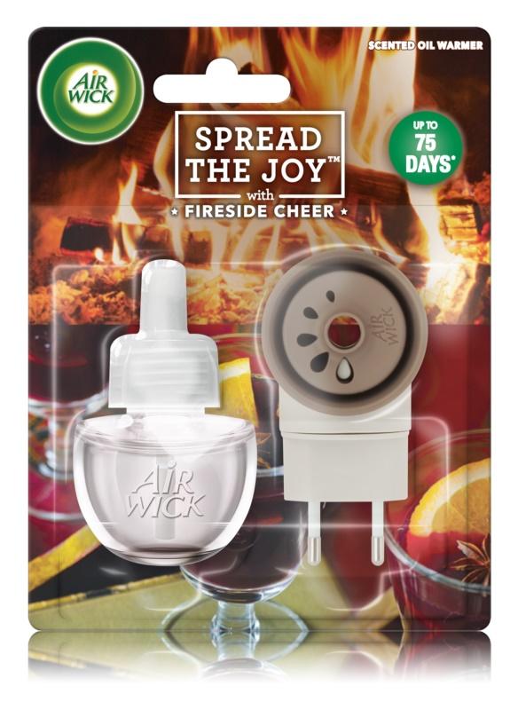 Air Wick Spread the Joy Fireside Cheer diffusore elettrico per ambienti 19 ml con ricarica