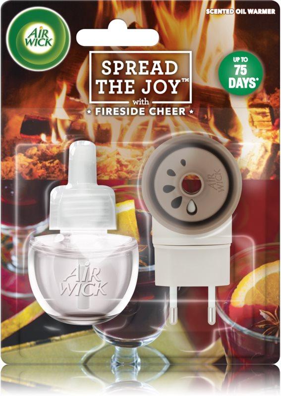 Air Wick Spread the Joy Fireside Cheer elektrický osvěžovač vzduchu 19 ml s náplní