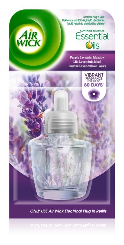 Air Wick Essential Oils Purple Lavander Meadow elektrischer Lufterfrischer  19 ml Ersatzfüllung