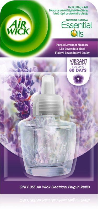 Air Wick Essential Oils Purple Lavander Meadow elektryczny odświeżacz powietrza 19 ml napełnienie