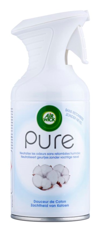 Air Wick Pure Soft Cotton spray para o lar 250 ml