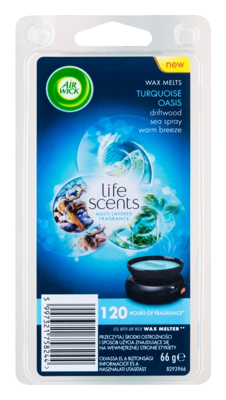 Air Wick Life Scents Turquoise Oasis tartelette en cire 66 g
