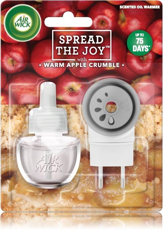 Air Wick Spread the Joy Warm Apple Crumble elektryczny odświeżacz powietrza 19 ml z napełnieniem