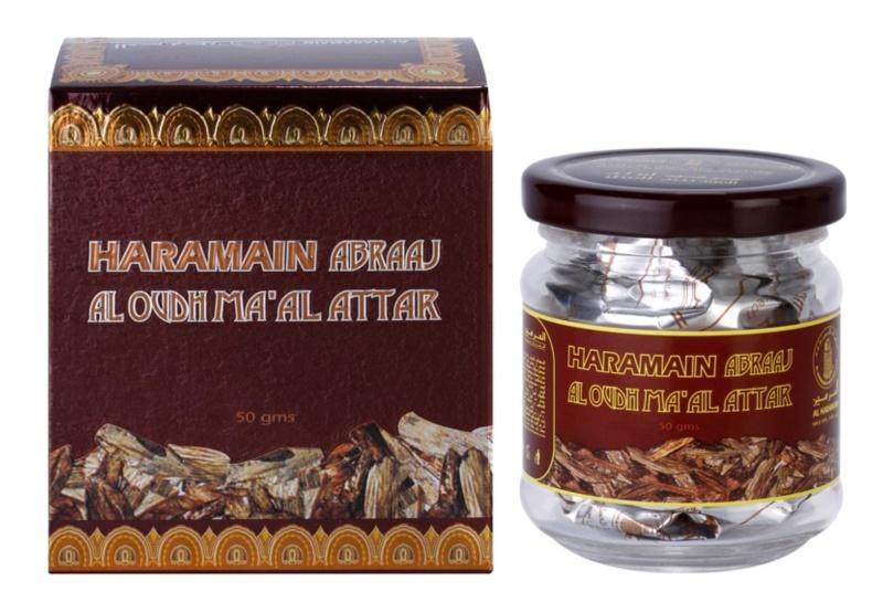 Al Haramain Abraaj Al Oudh Ma'Al Attak tömjén 50 g