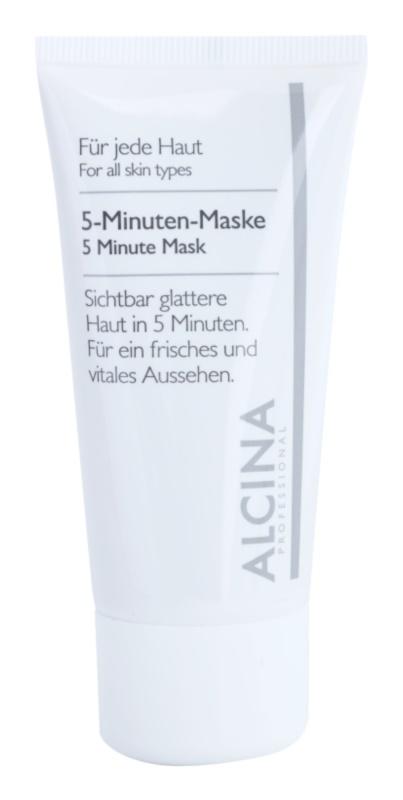 Alcina For All Skin Types masque 5 minutes pour un teint frais