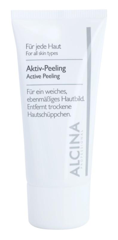 Alcina For All Skin Types aktívny peeling pre jemnú a vyhladenú pleť