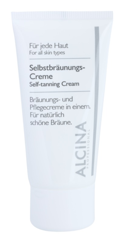 Alcina For All Skin Types creme autobronzeador para rosto