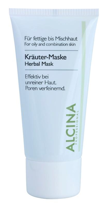 Alcina For Oily Skin bylinná maska proti lesknutí pleti a rozšířeným pórům