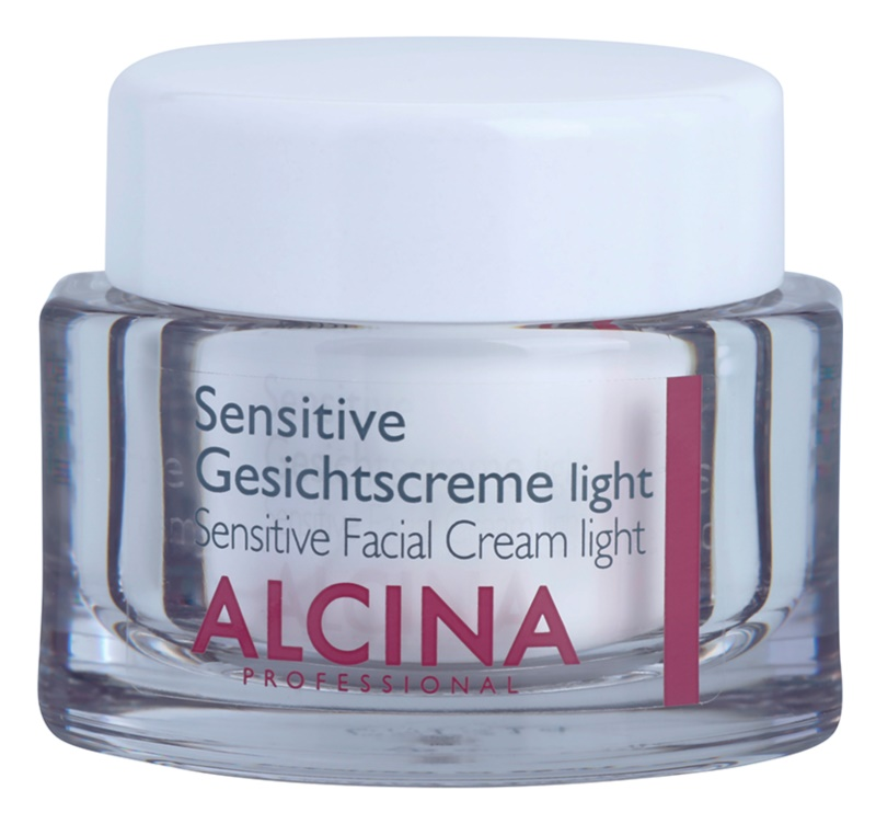 Alcina For Sensitive Skin könnyű arckrém az érzékeny bőr megnyugtatásához és erősítéséhez
