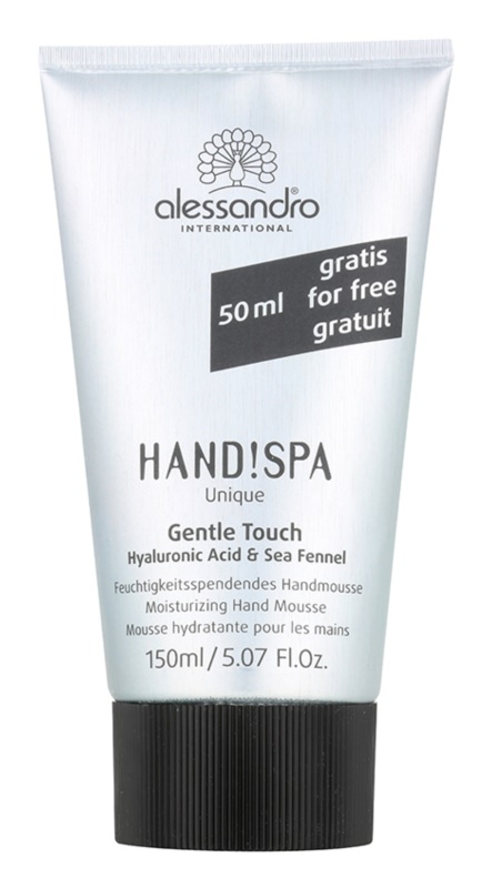 Alessandro Hand! Spa Unique Gentle Touch spumă hidratantă de maini