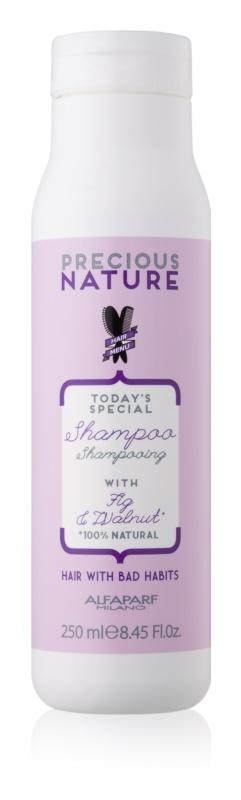 Alfaparf Milano Precious Nature Fig & Walnut restrukturalizační šampon pro posílení vlasů