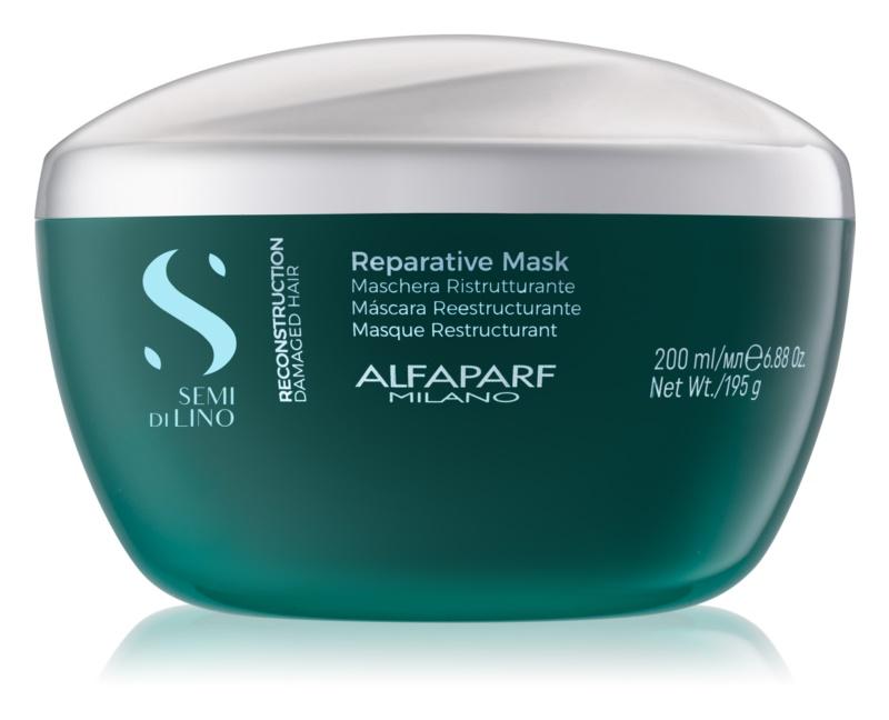 Alfaparf Milano Semi di Lino Reconstruction Reparative Haarmasker  voor Beschadigd Haar