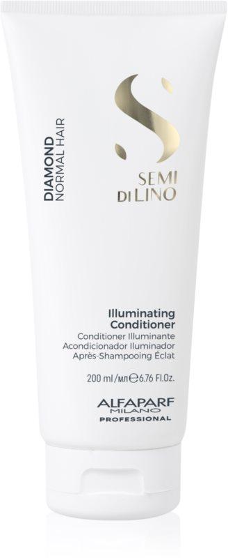 Alfaparf Milano Semi di Lino Diamond Illuminating rozjasňující kondicionér pro lesk a snadné rozčesávání vlasů