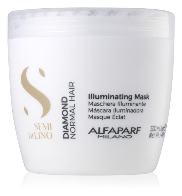 Alfaparf Milano Semi di Lino Diamond Illuminating Verhelderende Masker  zonder Suflaat en zonder Parabeen