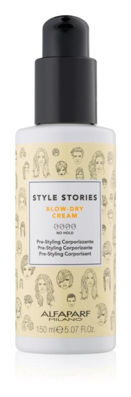 Alfaparf Milano Style Stories The Range Pre-Styling zaščitna krema za pospešitev sušenja las za povečanje volumna