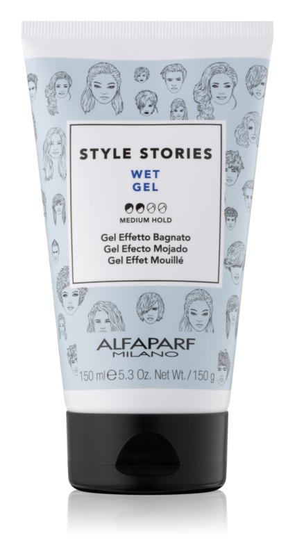 Alfaparf Milano Style Stories The Range Gel Haargel met Natte Effect  Medium Fixatie