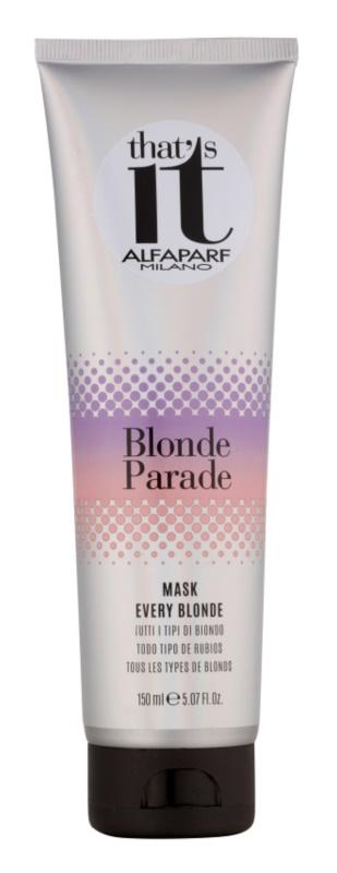Alfaparf Milano That s it Blonde Parade tápláló maszk szőke hajra