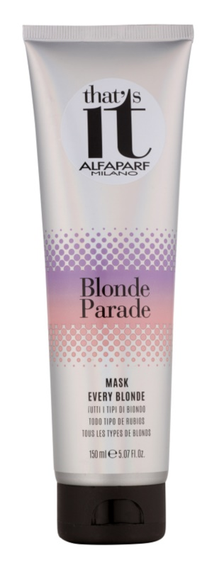 Alfaparf Milano That s it Blonde Parade подхранваща маска  за руса коса
