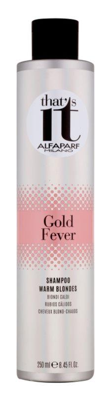 Alfaparf Milano That s it Gold Fever champô para tons loiros quentes