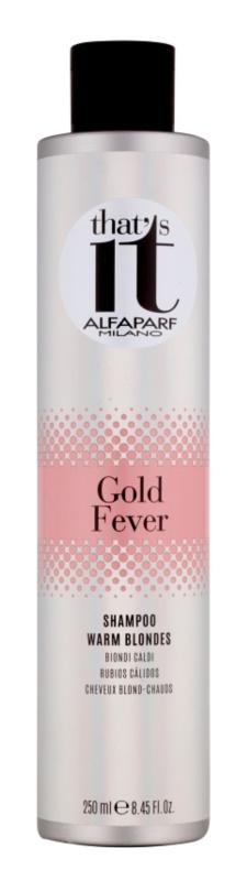 Alfaparf Milano That s it Gold Fever sampon a szőke meleg árnyalataiért