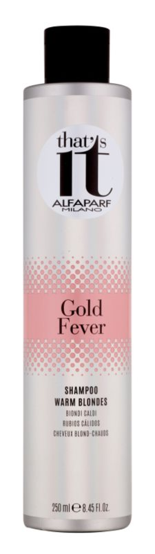Alfaparf Milano That s it Gold Fever Shampoo  voor Warme Blond Tinten