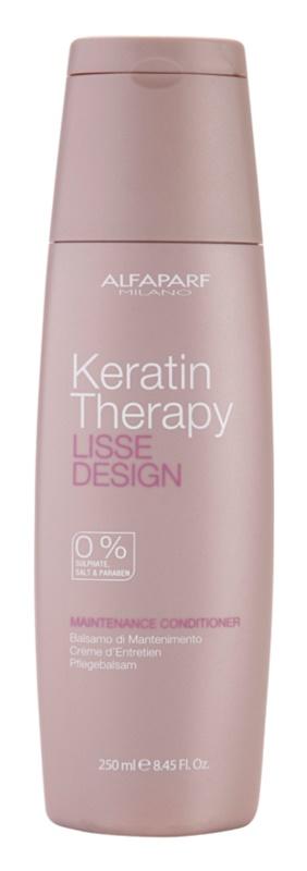 Alfaparf Milano Lisse Design Keratin Therapy der nährende Conditioner ohne Sulfat und Parabene