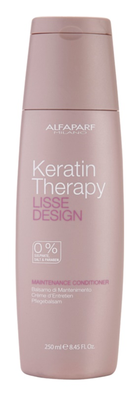 Alfaparf Milano Lisse Design Keratin Therapy Nourishing Conditioner without Sulfates and Parabens