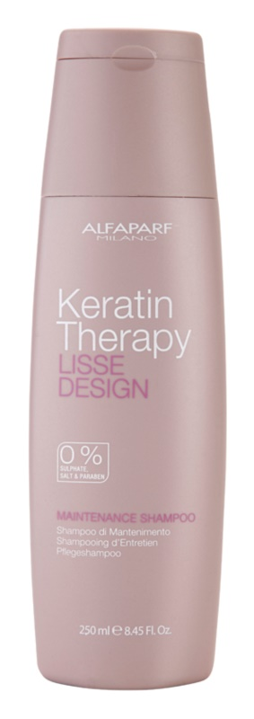 Alfaparf Milano Lisse Design Keratin Therapy finom állagú tisztító sampon szulfát és parabén nélkül