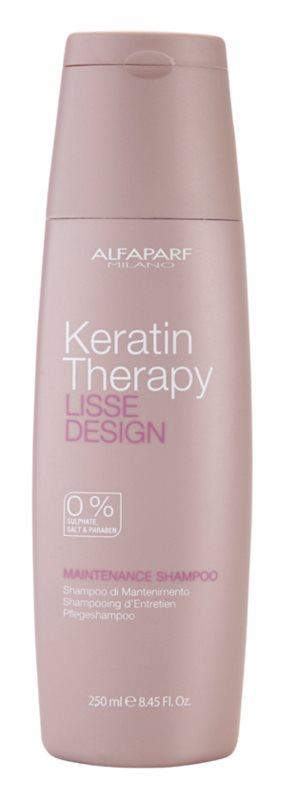 Alfaparf Milano Lisse Design Keratin Therapy shampoo detergente delicato senza solfati e parabeni