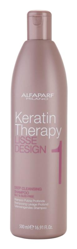 Alfaparf Milano Lisse Design Keratin Therapy шампунь для глибокого очищення для всіх типів волосся