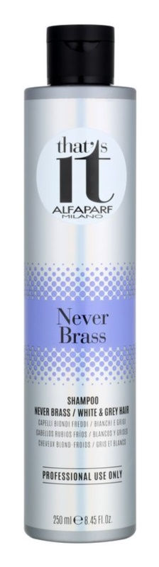 Alfaparf Milano That s it Never Brass šampon za bele in sive lase