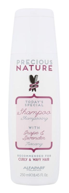 Alfaparf Milano Precious Nature Grape & Lavender shampoing pour cheveux bouclés et frisés