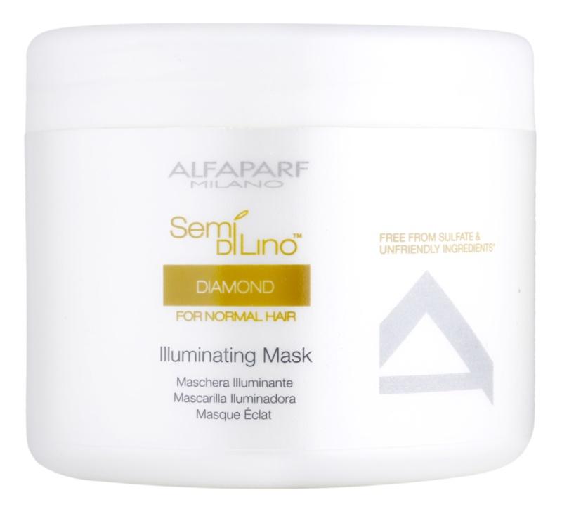 Alfaparf Milano Semi di Lino Diamond Illuminating maschera per la brillantezza