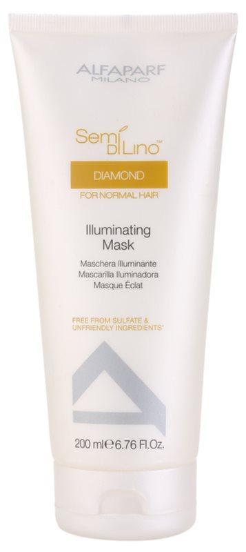 Alfaparf Milano Semi di Lino Diamond Illuminating máscara para cabelo brilhante e macio