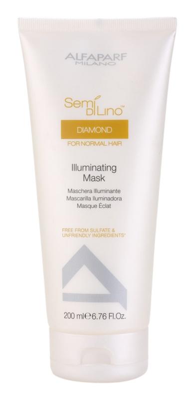 Alfaparf Milano Semi di Lino Diamond Illuminating mascarilla para dar brillo y suavidad al cabello