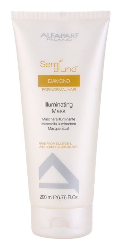 Alfaparf Milano Semi di Lino Diamond Illuminating Masker  voor Glanzend en Zacht Haar