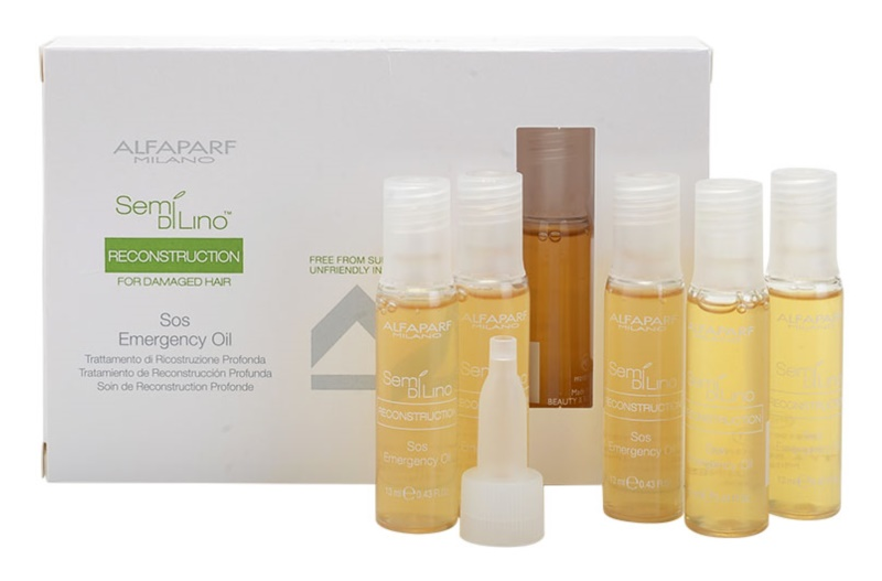 Alfaparf Milano Semi di Lino Reconstruction for Damaged Hair Regenerating Oil For Damaged Hair