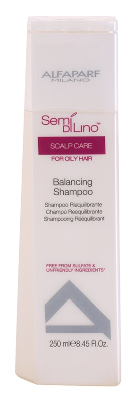Alfaparf Milano Semi di Lino Scalp Care Sulfaatvrije Shampoo voor Vet Haar