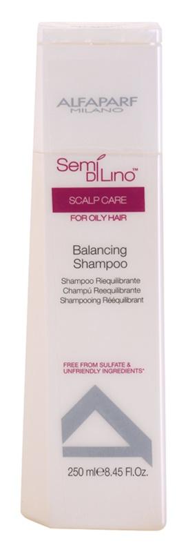 Alfaparf Milano Semi di Lino Scalp Care sulfatfreies Shampoo für fettiges Haar