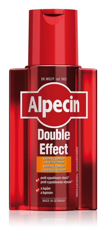 Alpecin Double Effect champô de cafeína para homens anticaspa e antiqueda de cabelo
