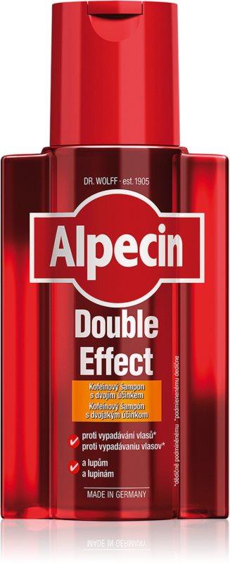 Alpecin Double Effect szampon kofeinowy dla mężczyzn przeciw łupieżowi i wypadaniu włosów