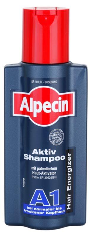 Alpecin Hair Energizer Aktiv Shampoo A1 szampon aktywujący wzrost włosów do normalnej i suchej skóry głowy